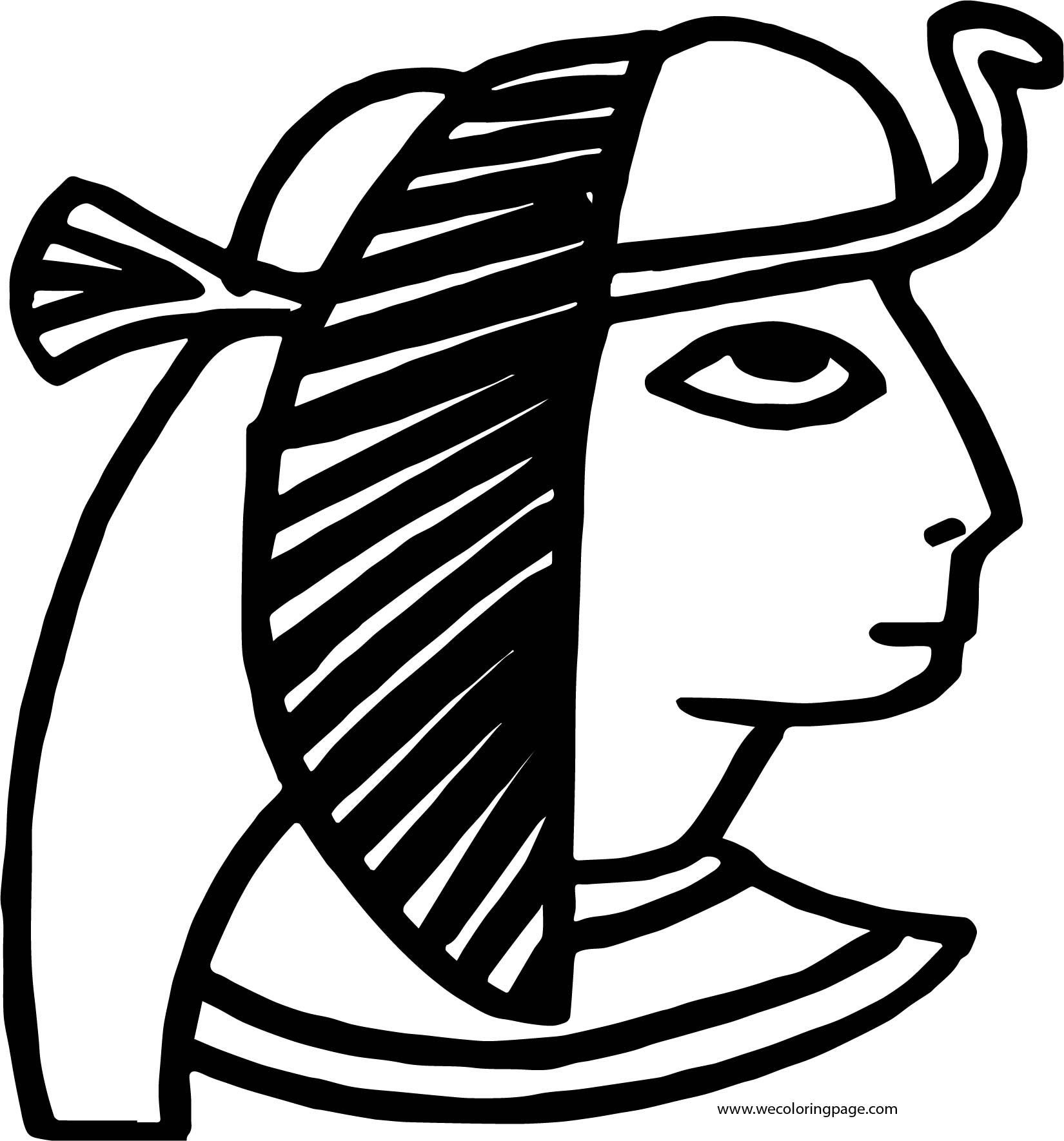 Plagues Of Egypt Head Coloring Page