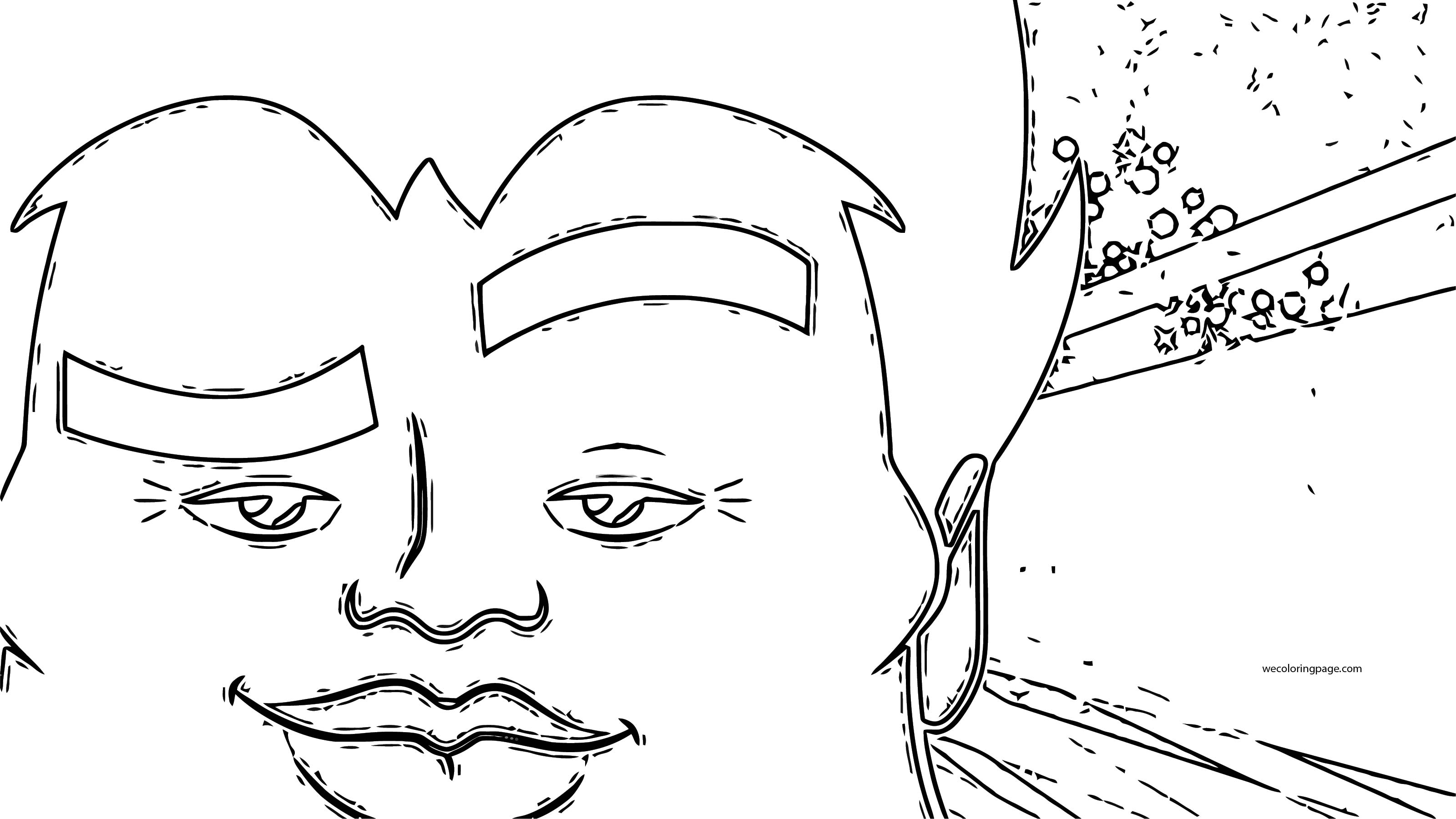 Power Superman Teen Titans Go Big Face Coloring Page