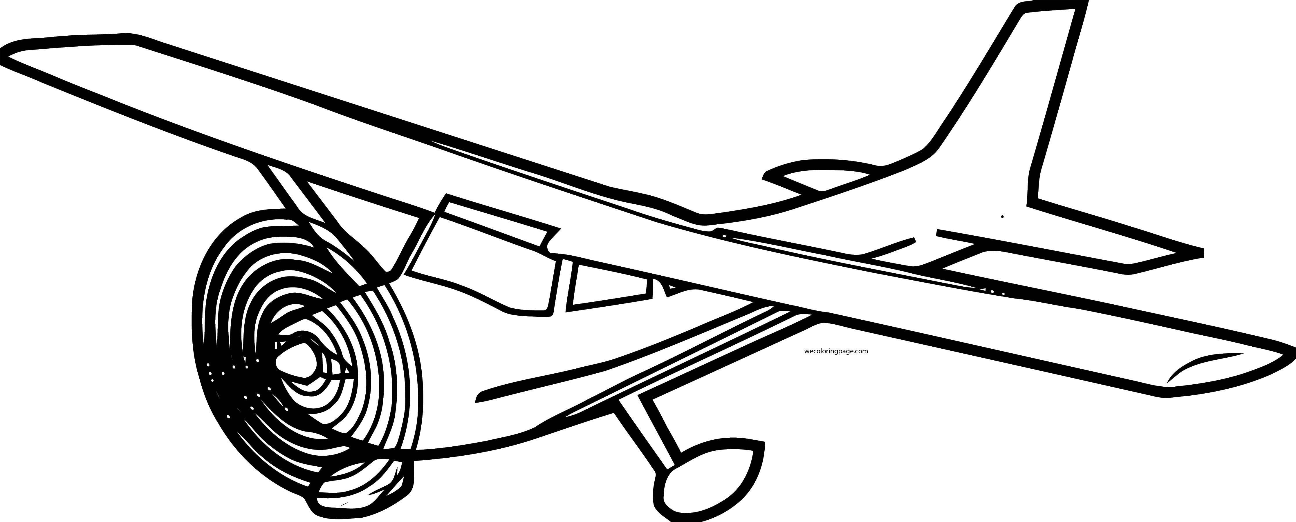 Small Special Plane We Coloring Page
