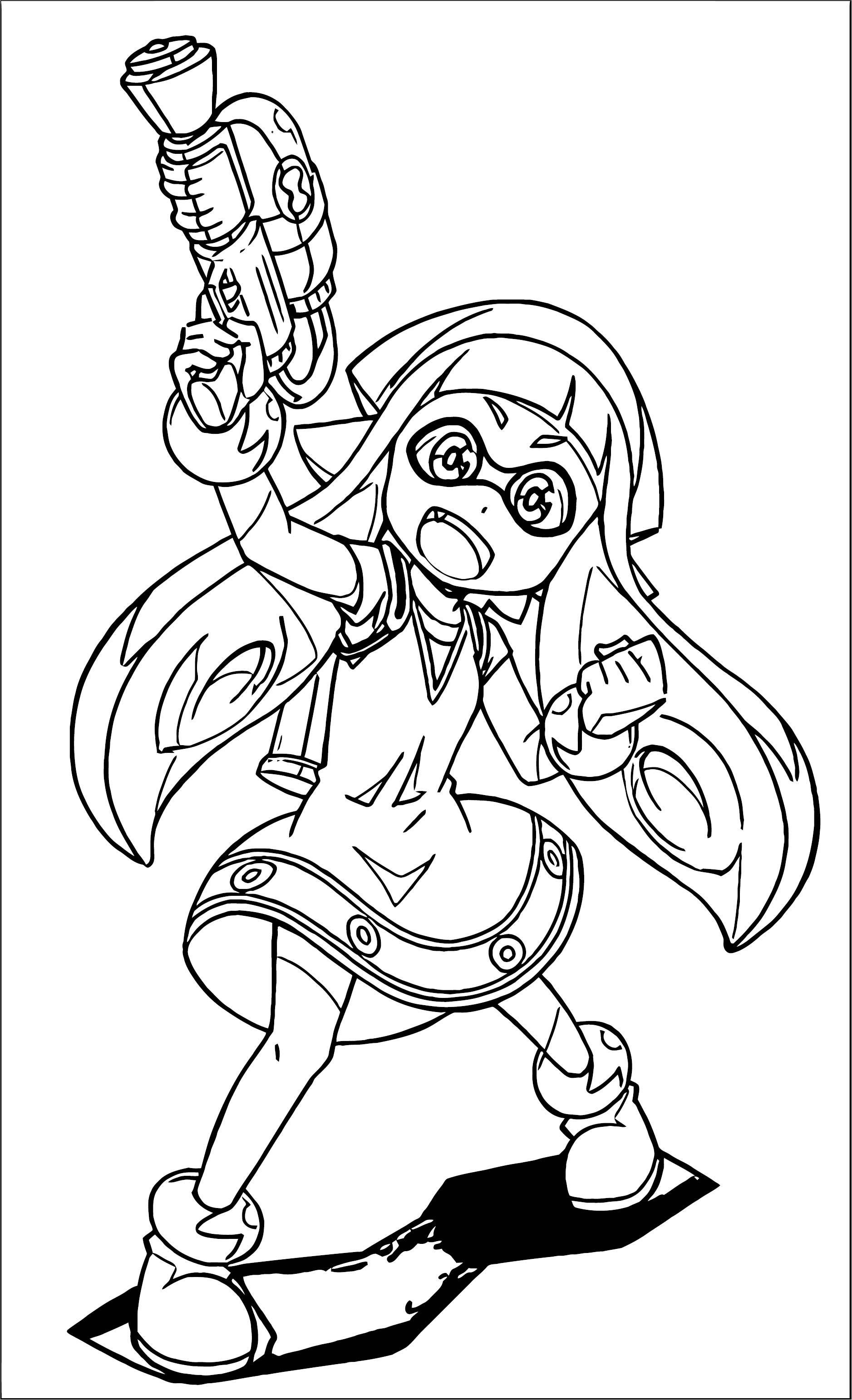 Squid Girl Gun Coloring Page 259