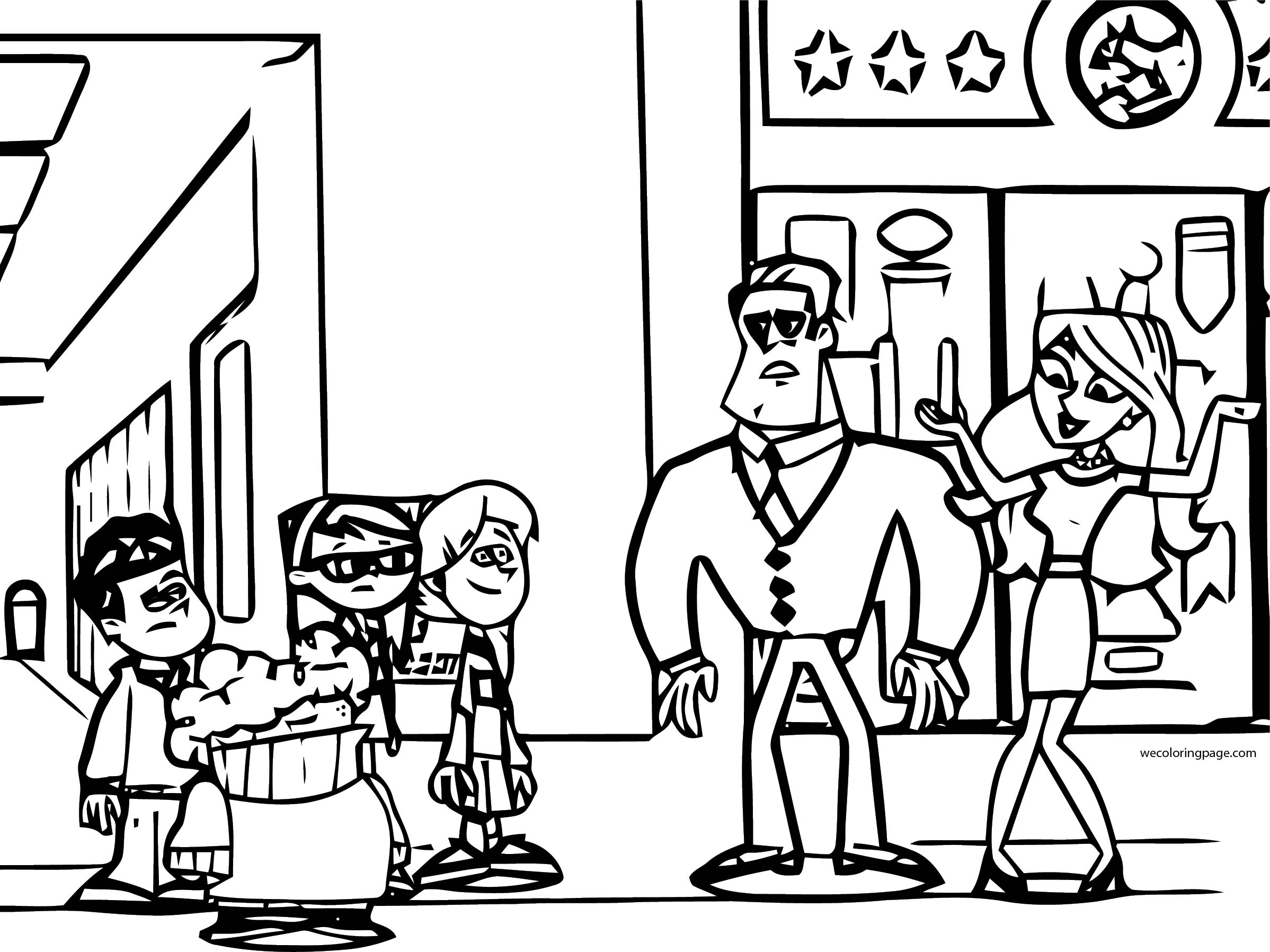 Supernoobs Coloring Page 19