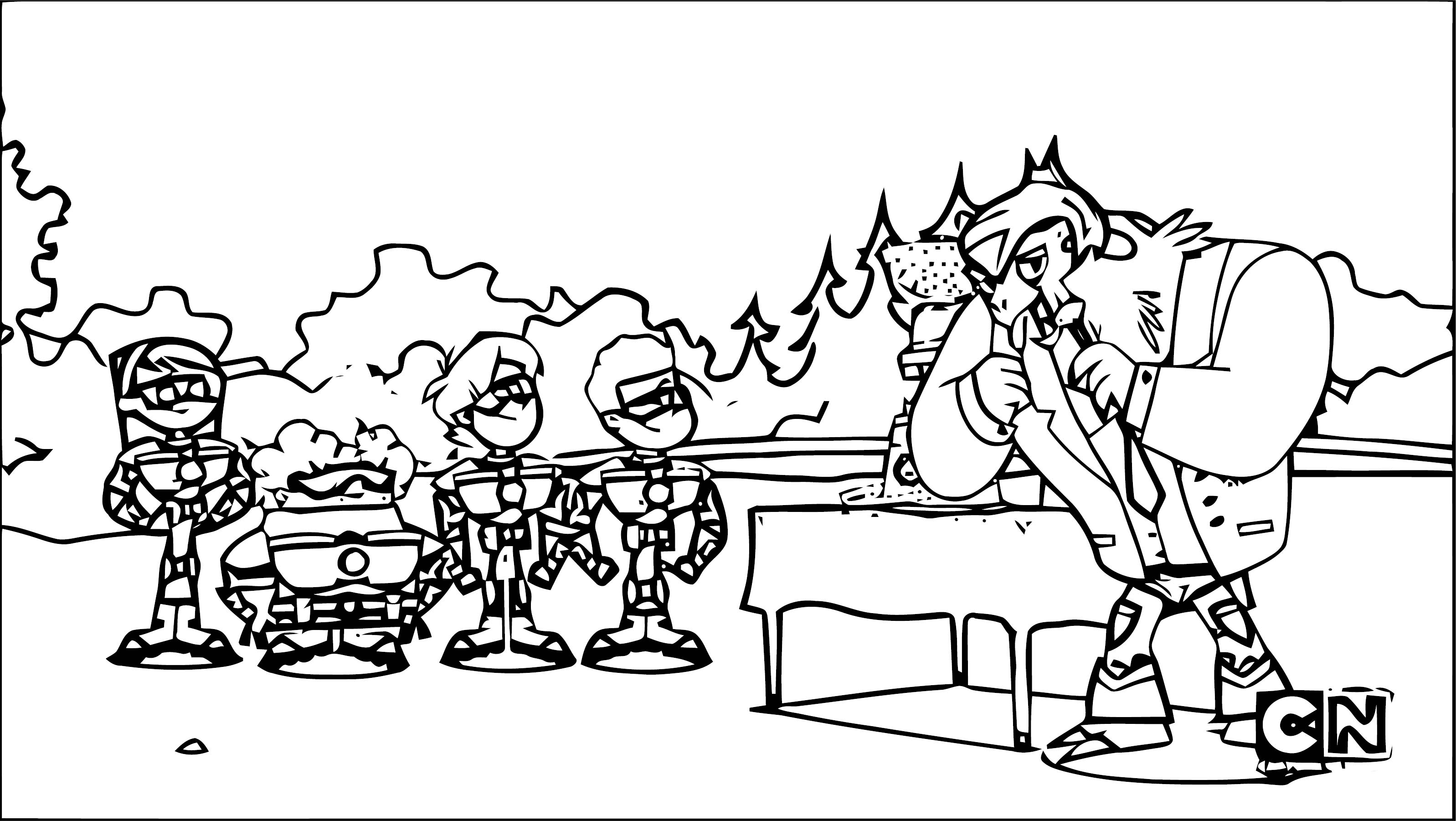 Supernoobs Coloring Page 28