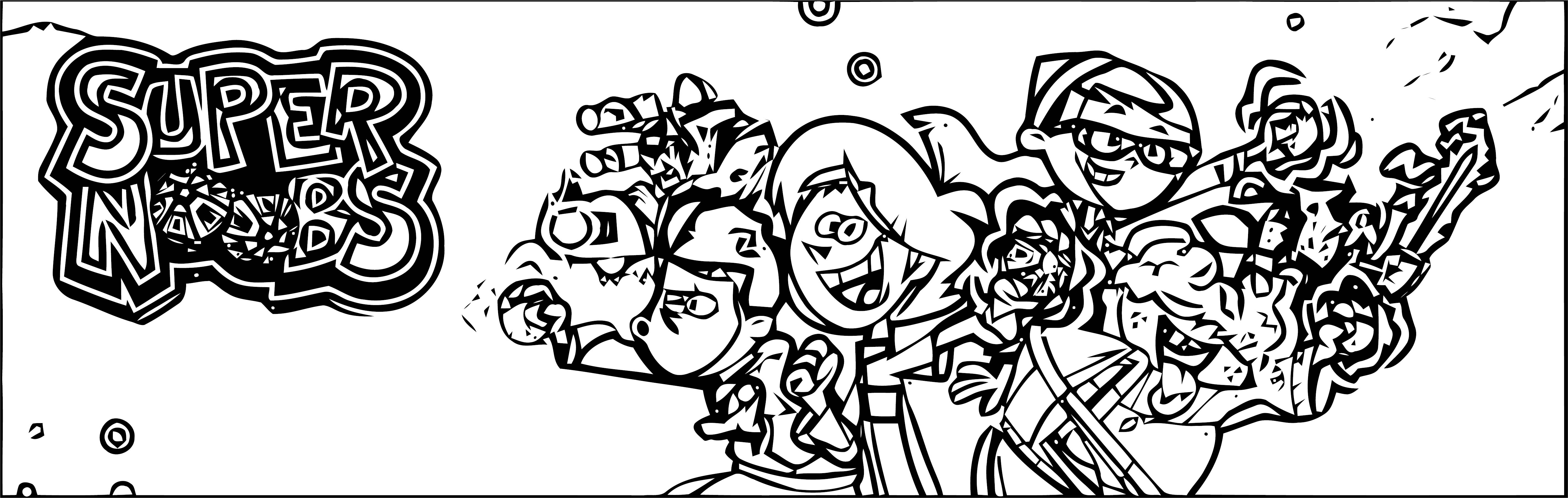 Supernoobs Coloring Page 49