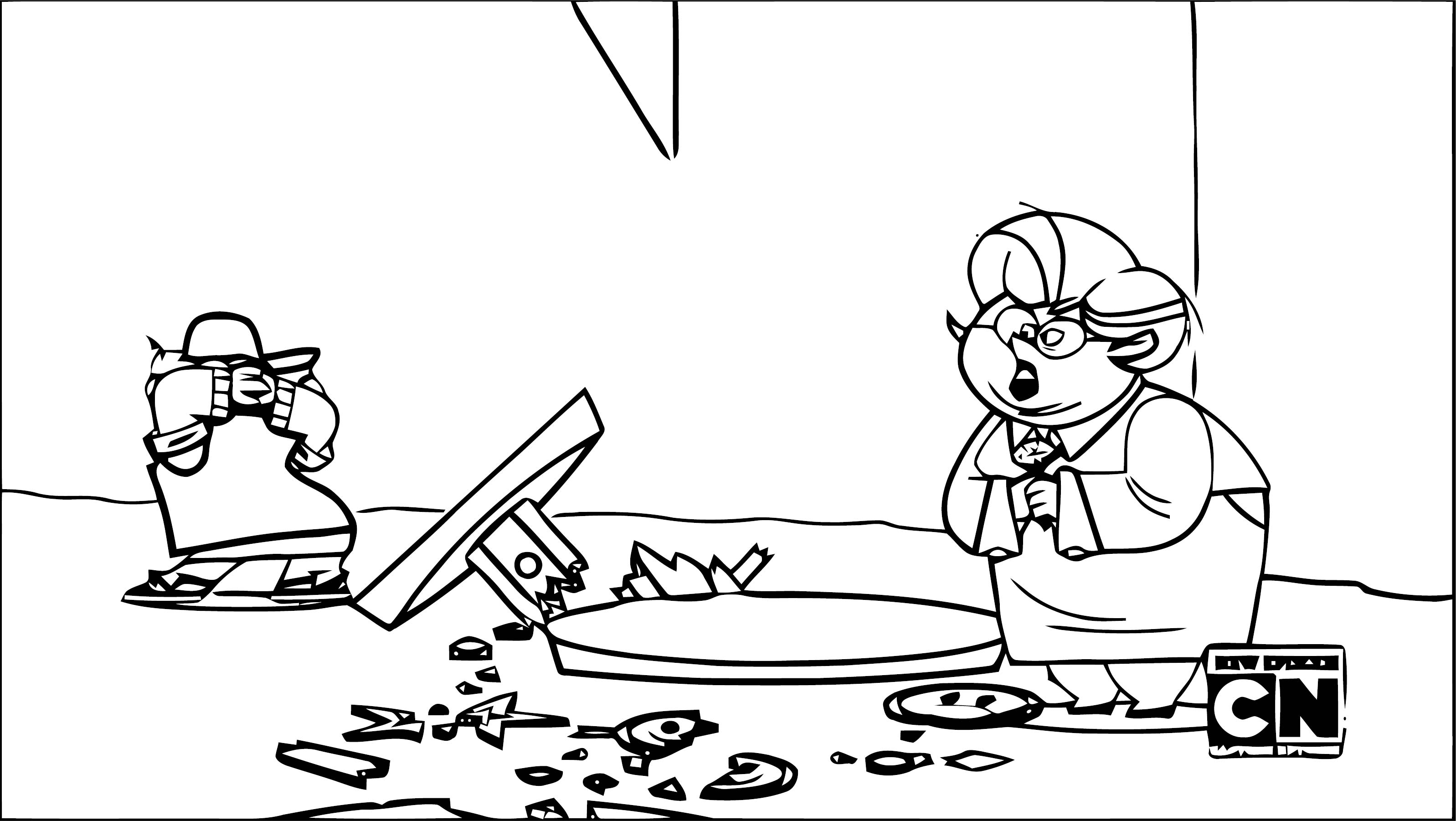 Supernoobs Episode Noob Kids On The Block Fourth Down And Noob To Go Coloring Page