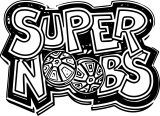 Supernoobs Text Logo Coloring Page