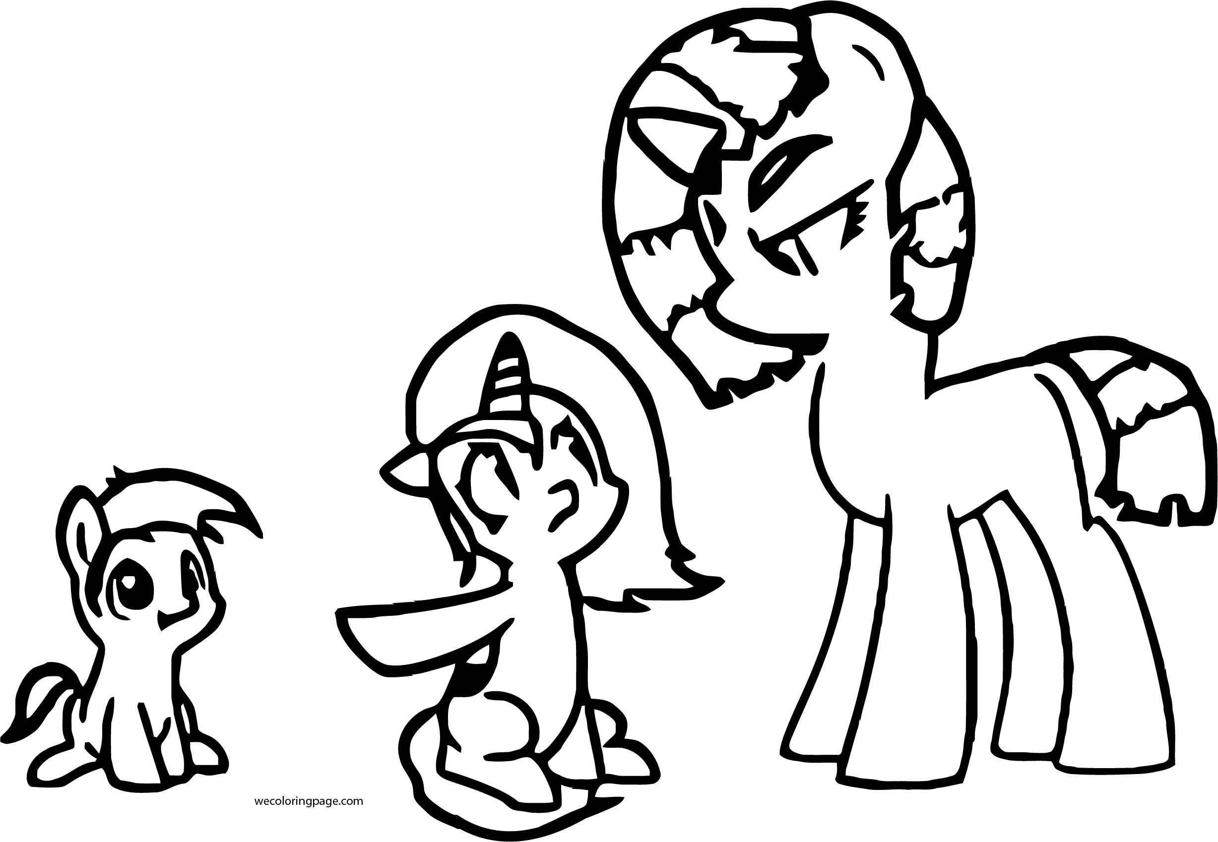 Teen Titans Go As Ponys It Whas Beast Boy Coloring Page