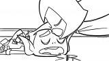 Teen Titans Go Beast Boy Baekiss Coloring Page