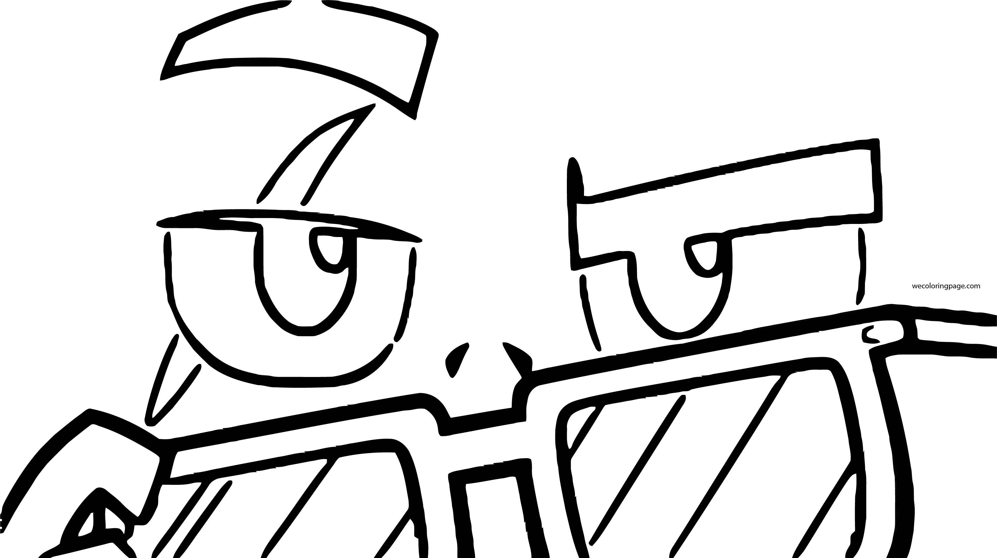 Teen Titans Go Open Glasses Manperson Coloring Page