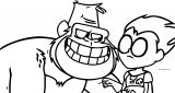 Teen Titans Go Robin And Monkey Transferir Coloring Page