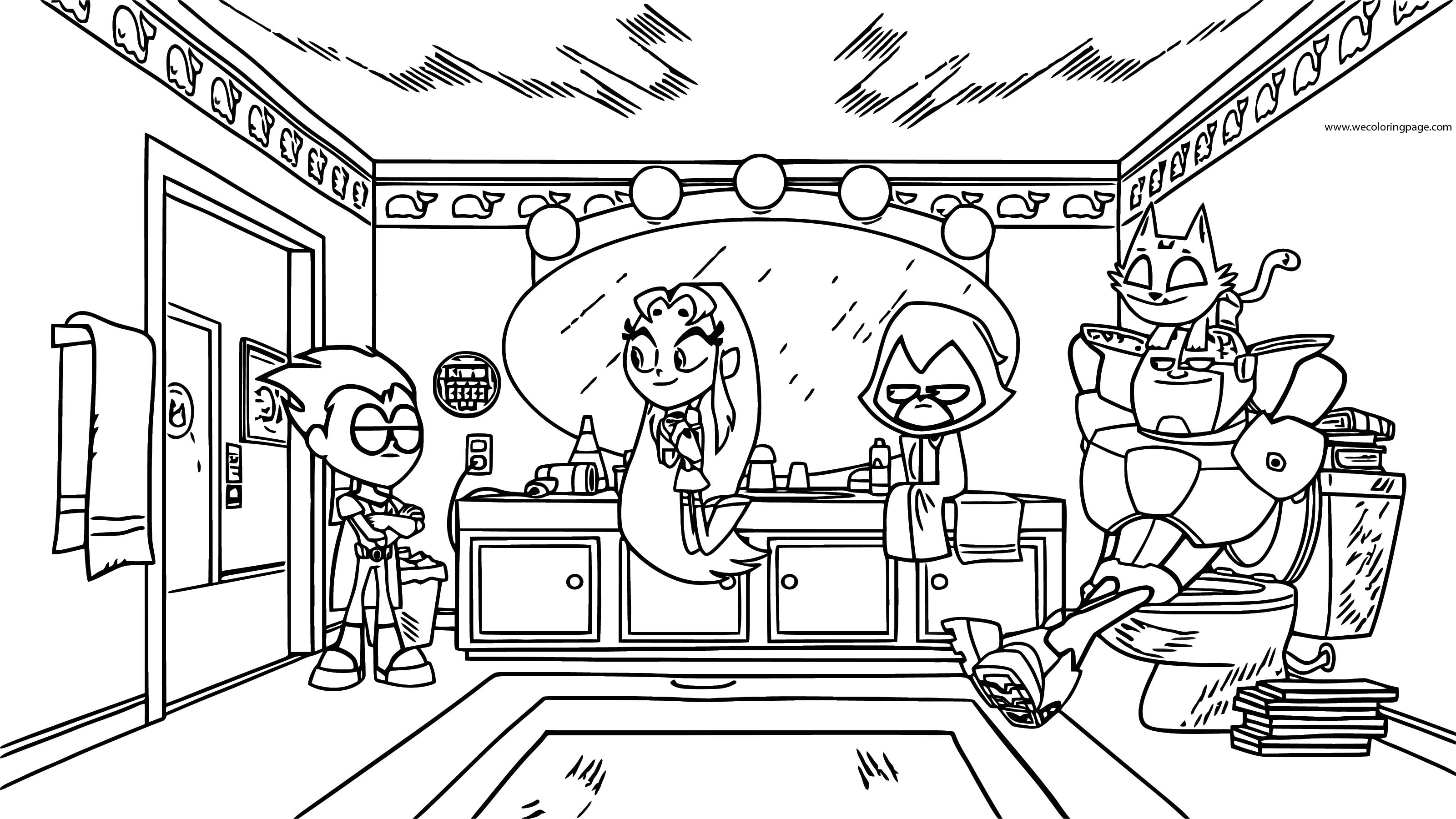 Teen Titans Go Robin Serious Business Still Coloring Page