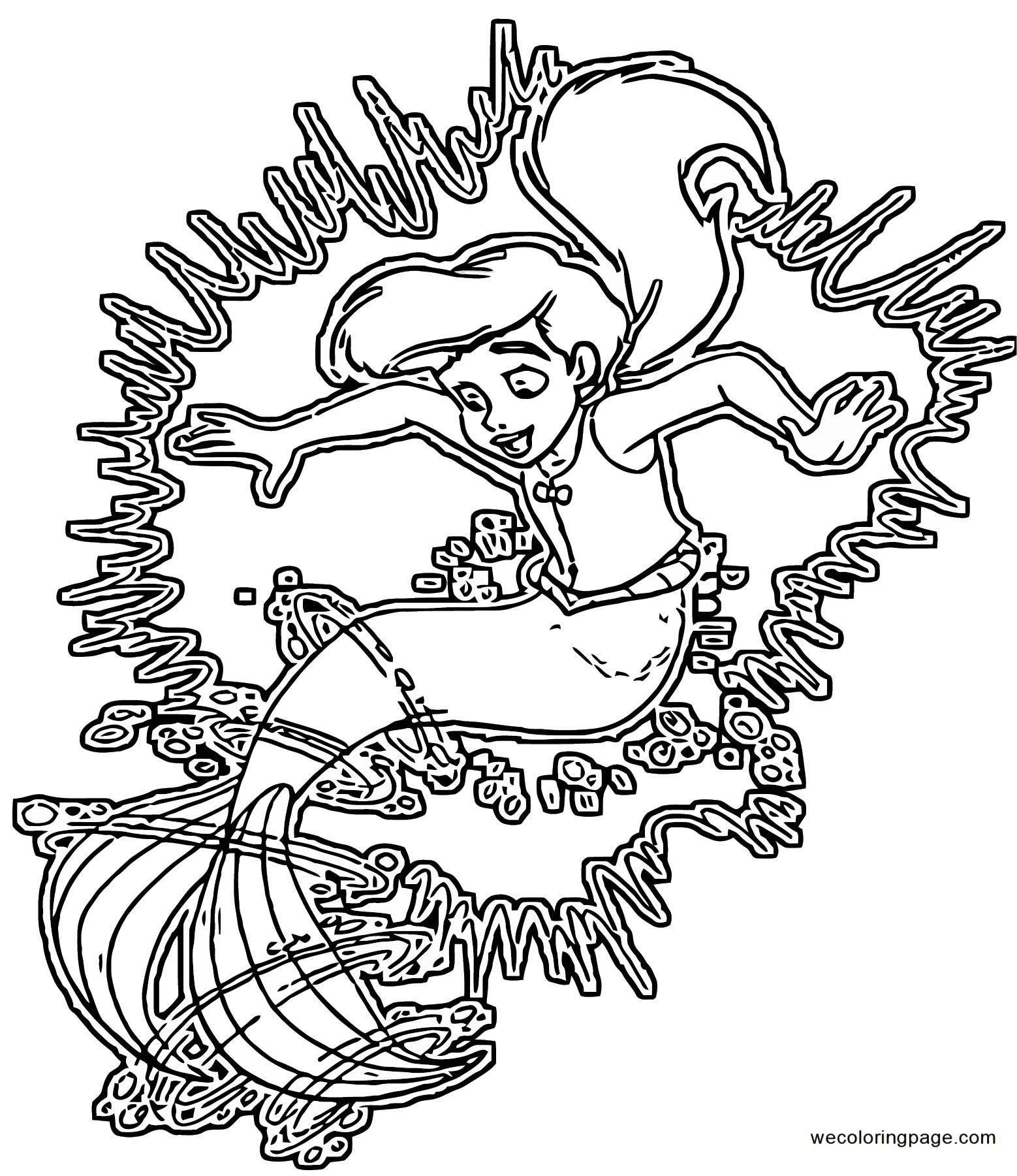 The Little Mermaid Ariels Beginning Coloring Pages 44