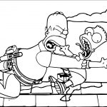 The Simpsons Coloring Page 086