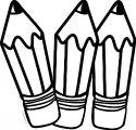 Three Pencil Coloring Page