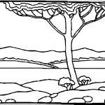 Art Cuscapes Landscape Coloring Page