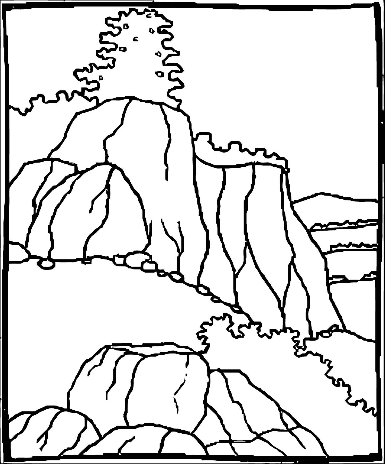 Art Cuscapes Landscape Coloring Page 2