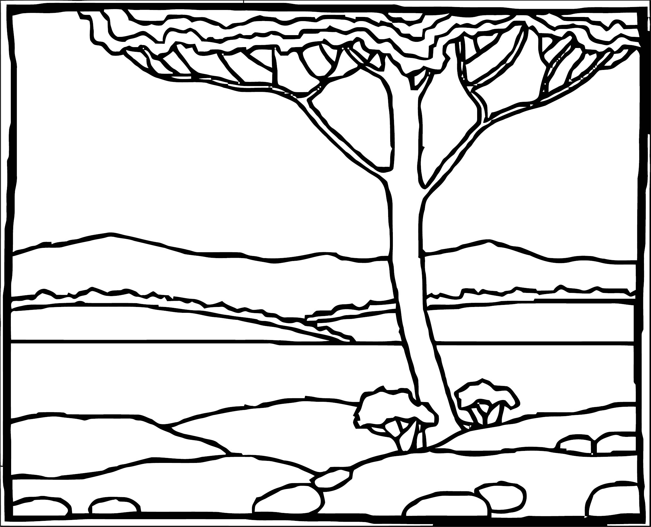 Art Cuscapes Landscape Coloring Page
