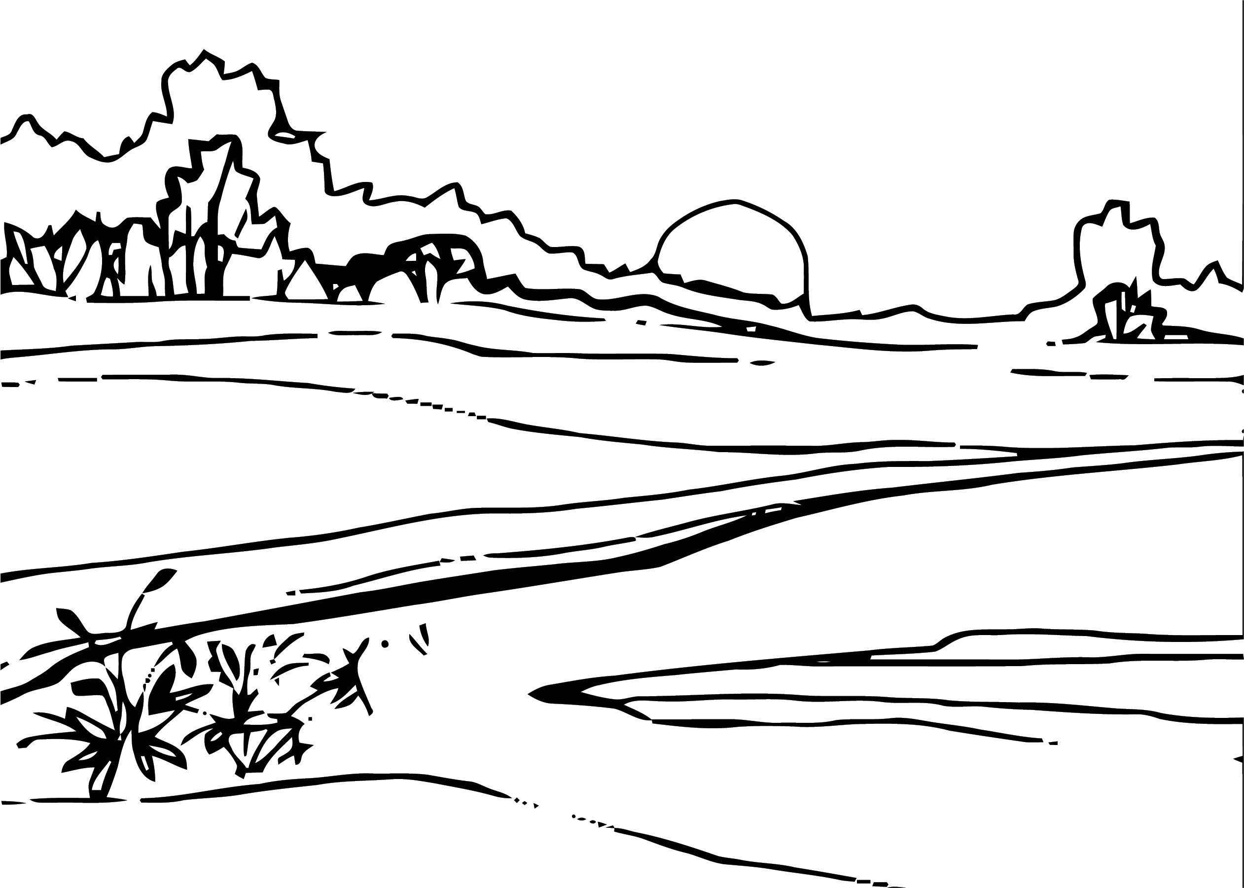 Art Landscape Landscape Coloring Page