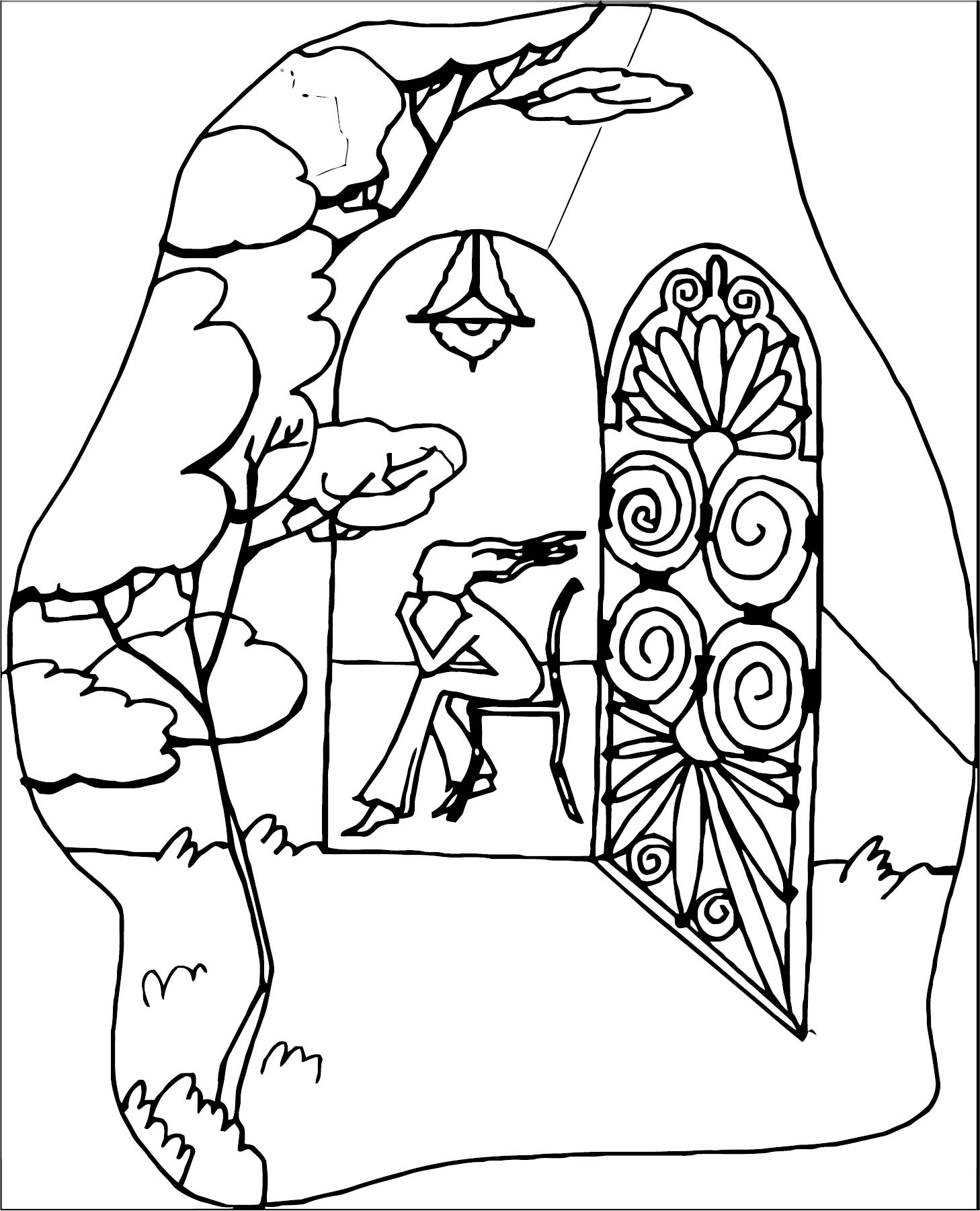 Art Mirages Coloring Page