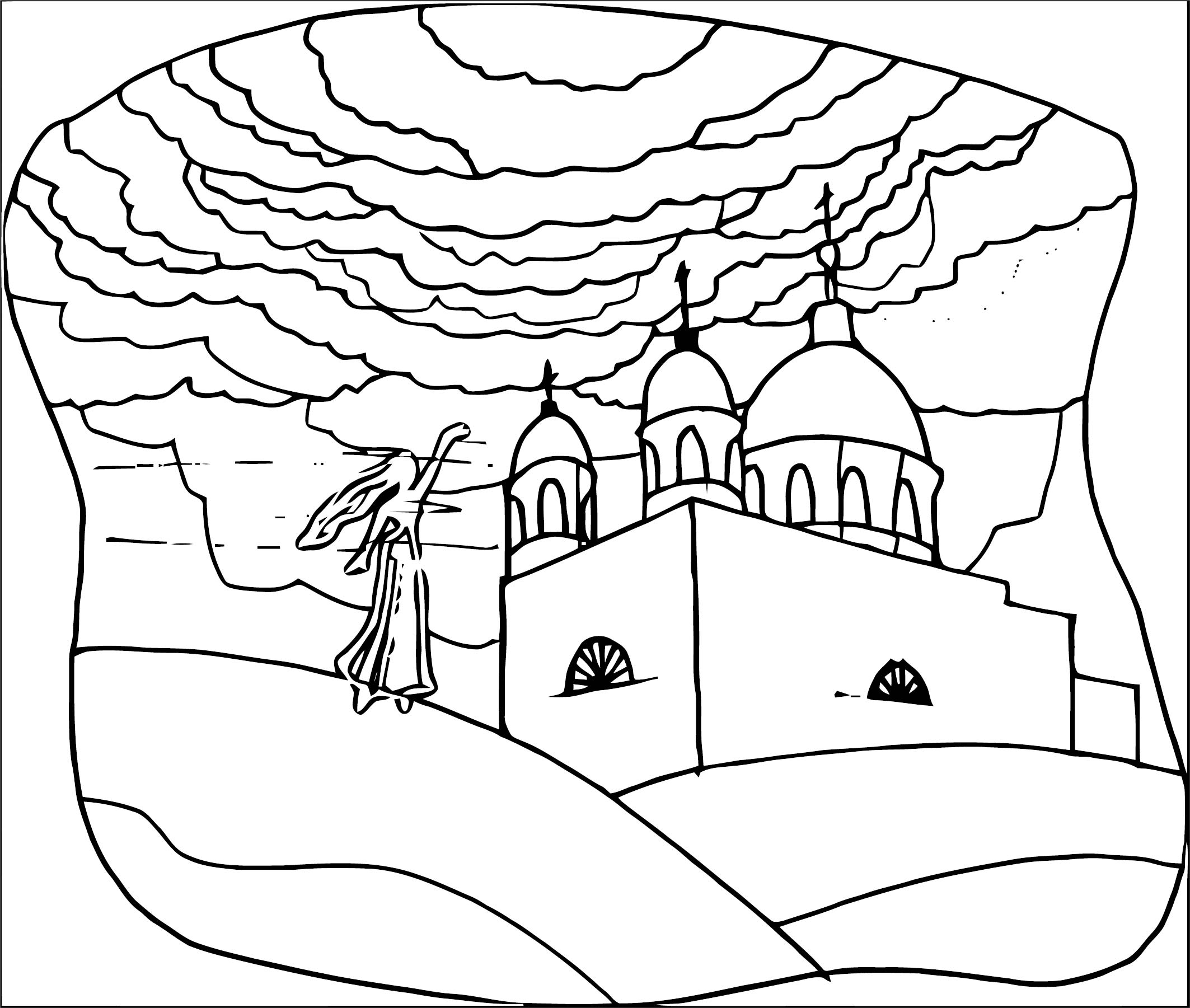 Art Mirages Landscape Coloring Page