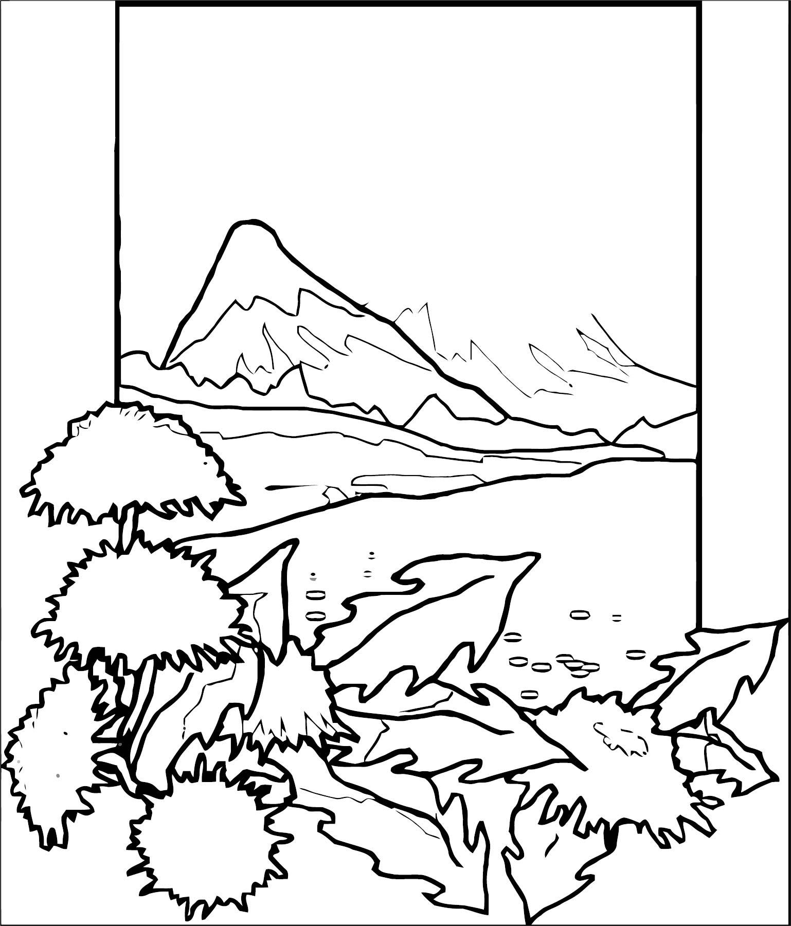 Art Momnatur Landscape Coloring Page 2