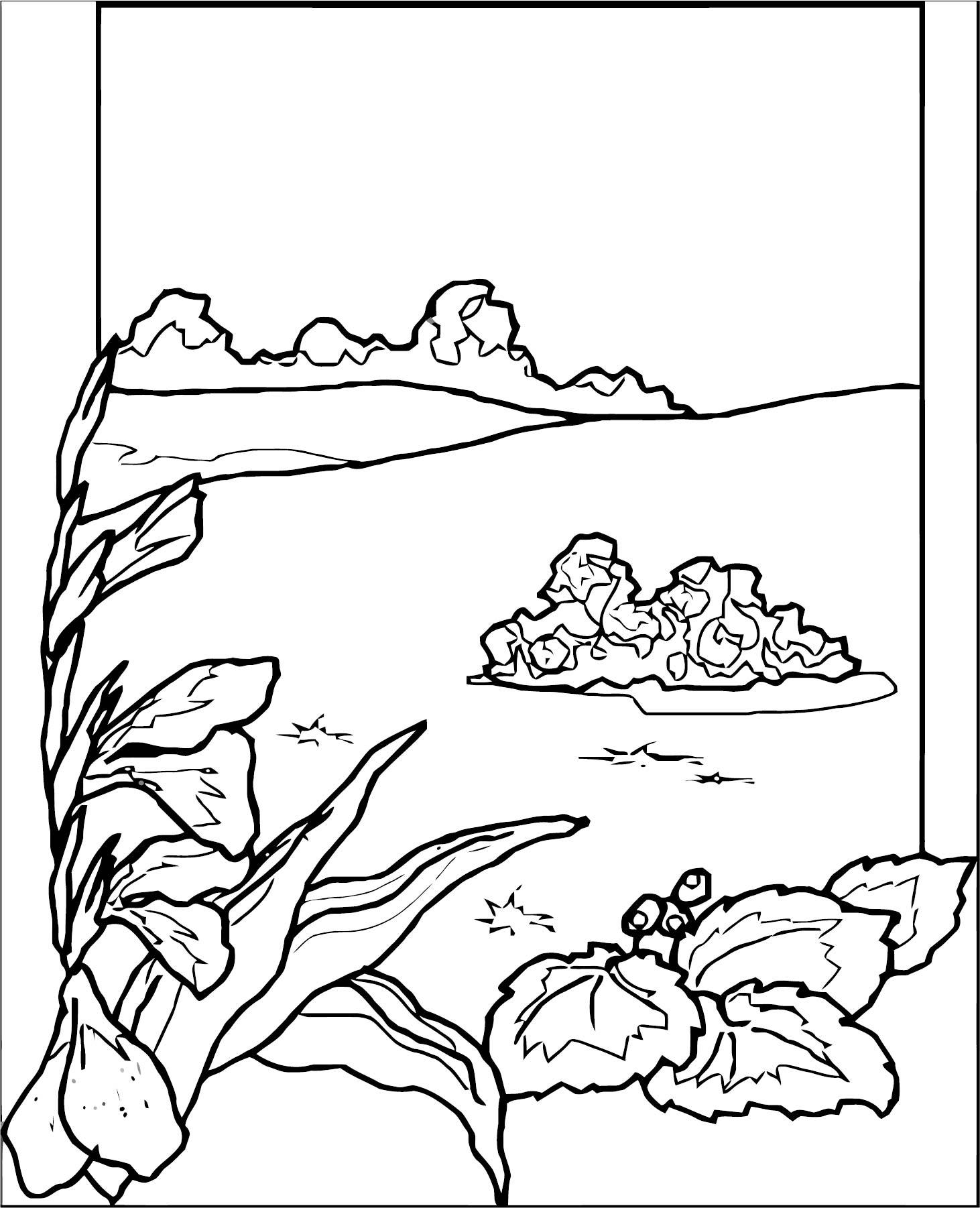 Art Momnatur Landscape Coloring Page 3
