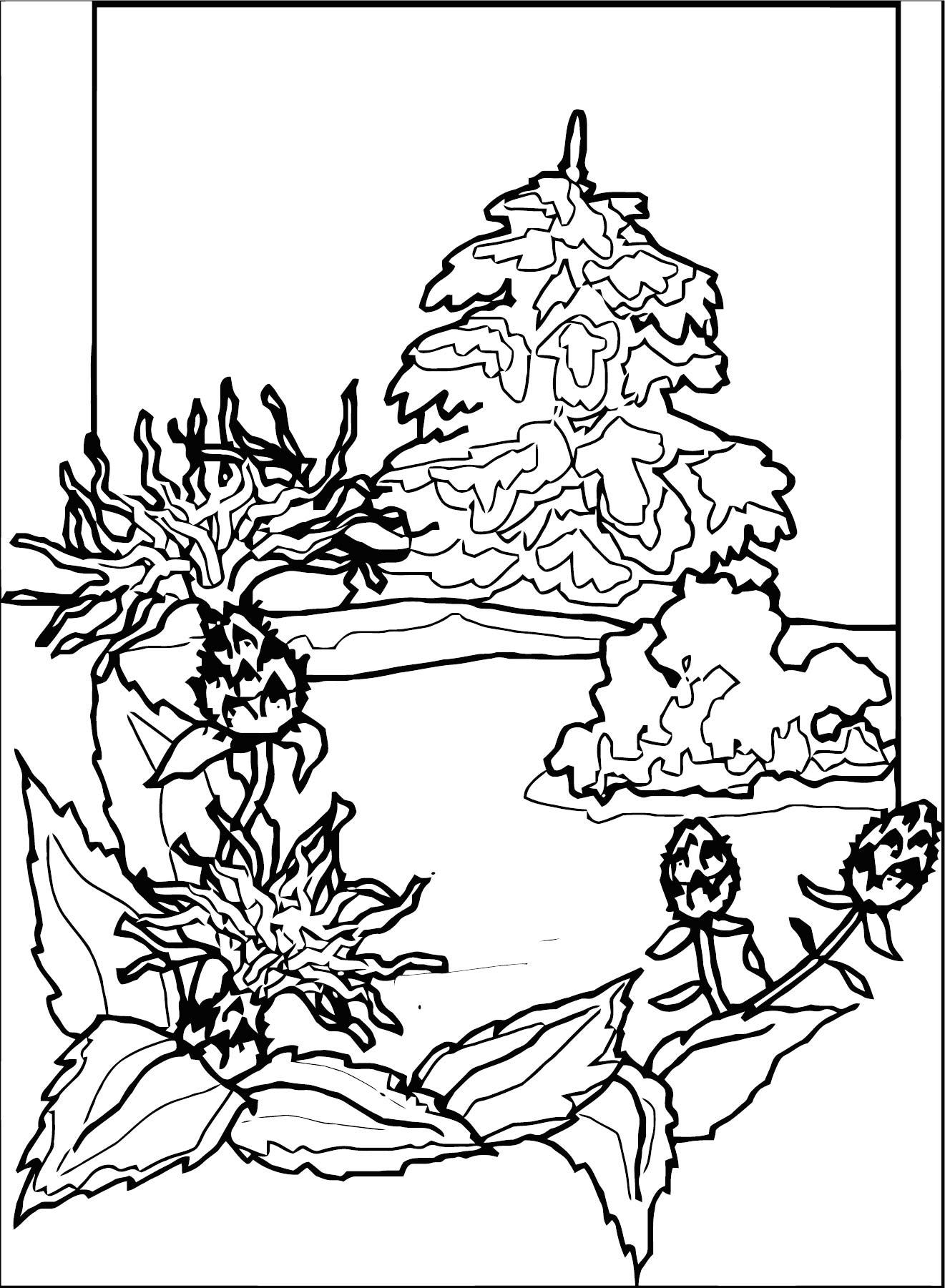 Art Momnatur Landscape Coloring Page 6