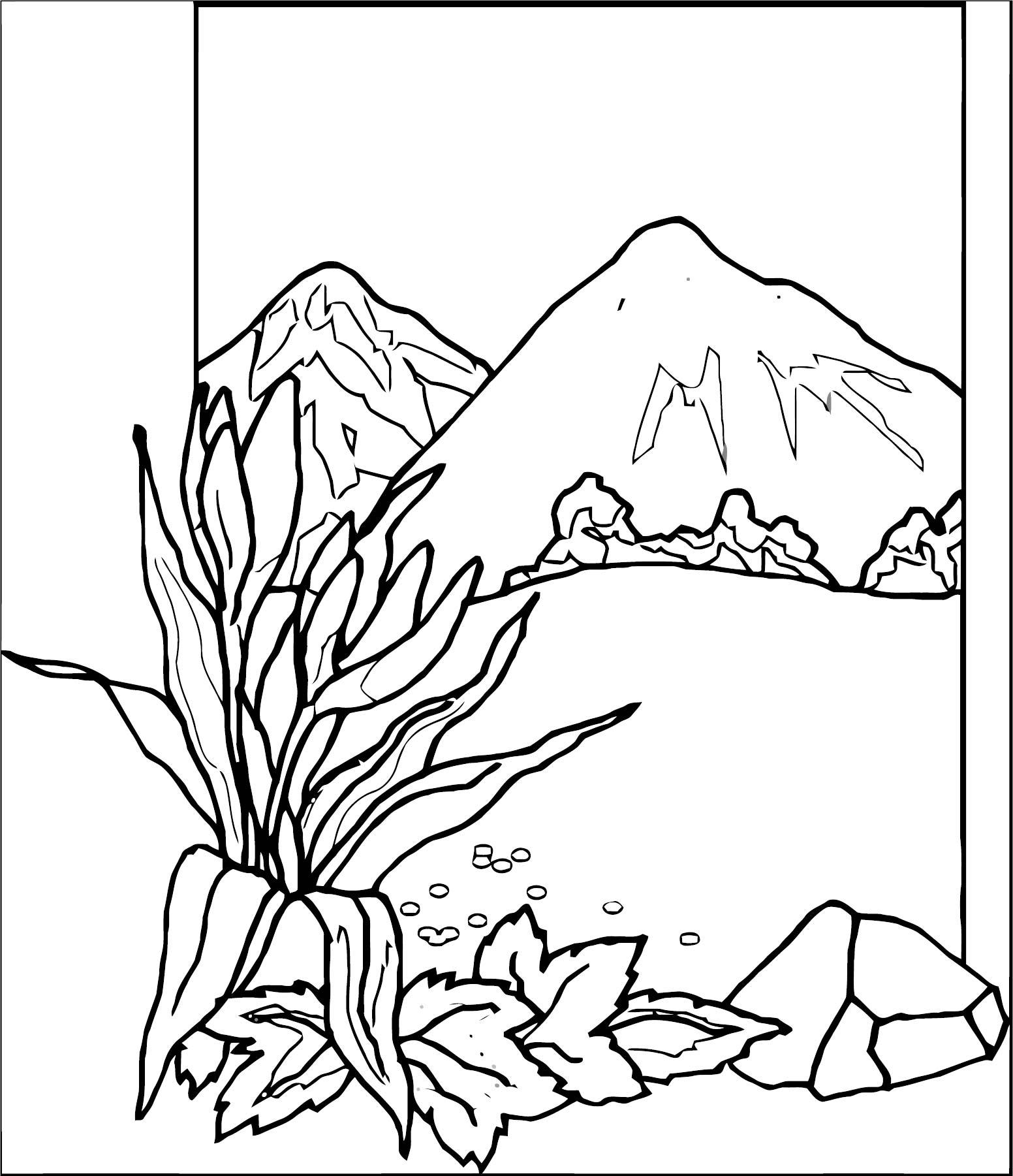 Art Momnatur Landscape Coloring Page 7