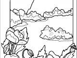 Art Momnatur Landscape Coloring Page 8