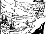 Art Mountain Landscape Coloring Page