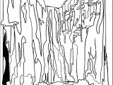 Art Mountain Landscape Coloring Page 6