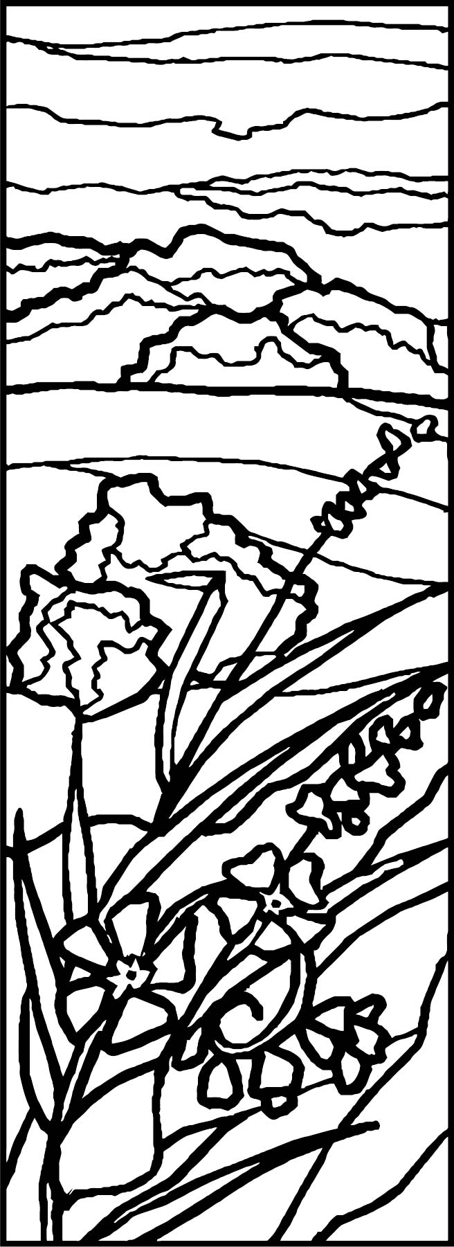 Art Nature Landscape Coloring Page