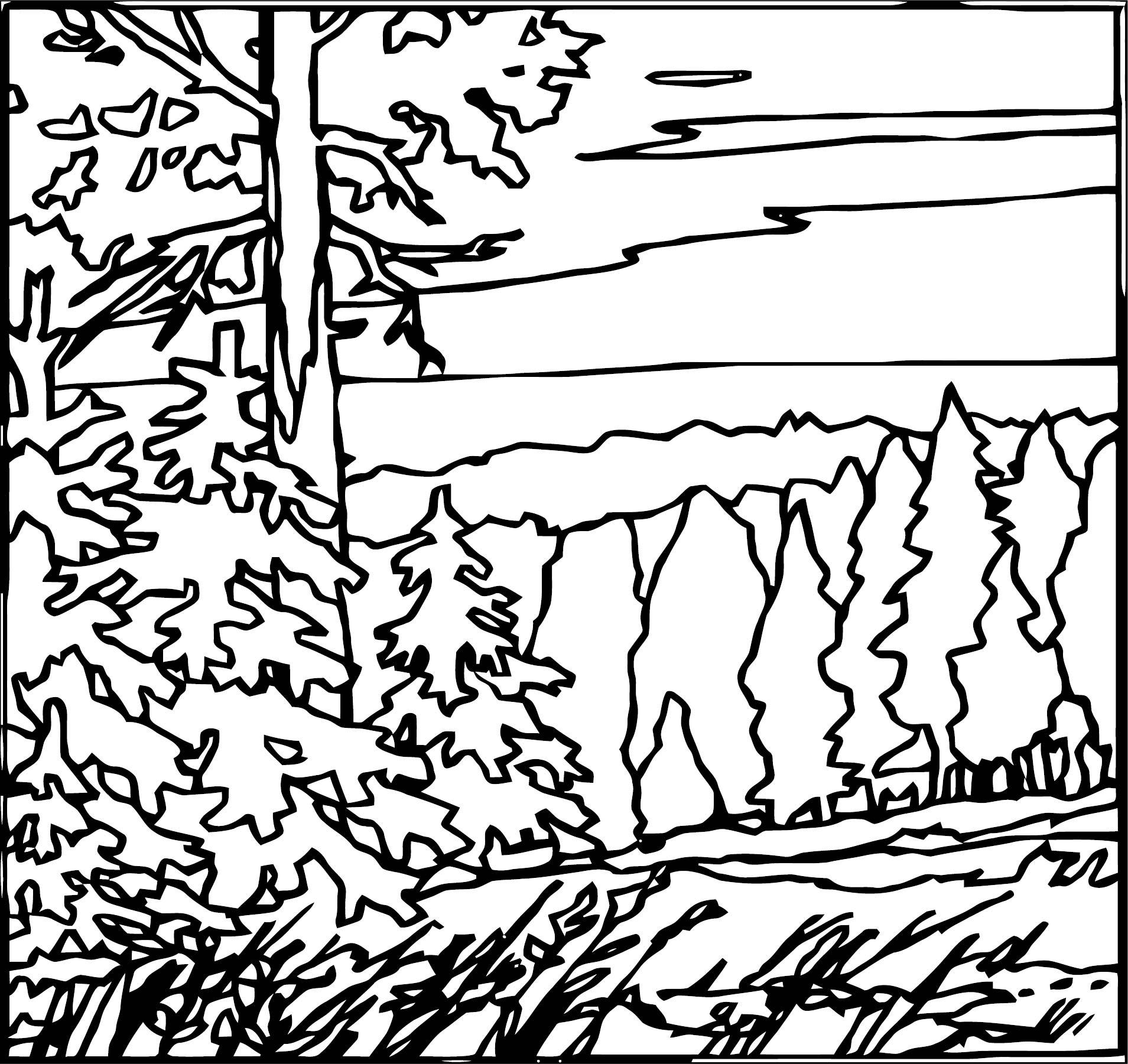 Artnature Landscape Coloring Page