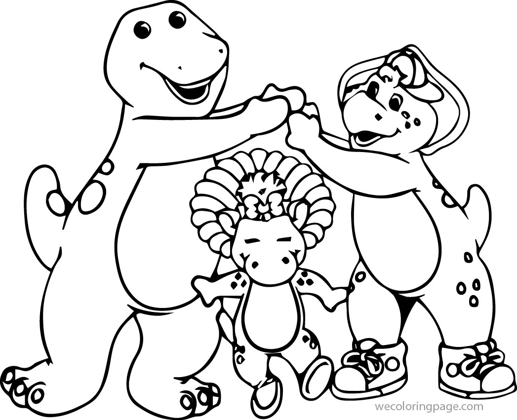 Barney And Friends Coloring Page 08