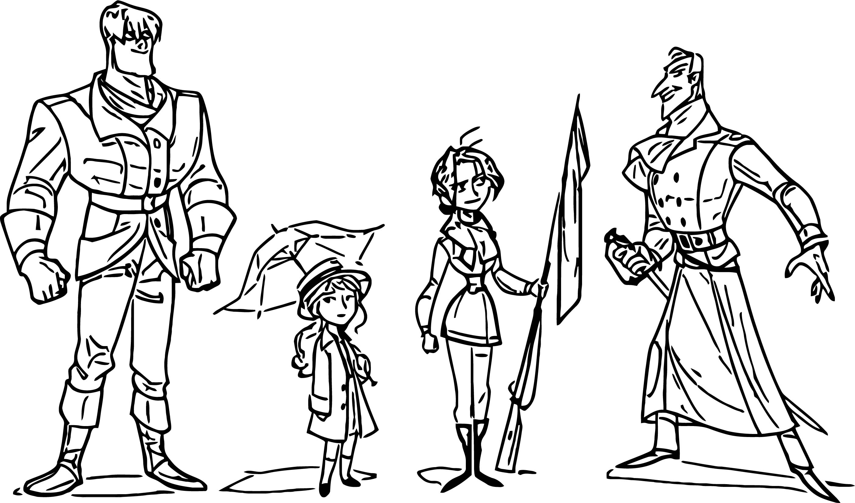 Cartoonized Character Design Coloring Page