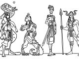 Character Design Egyptian Gods Meomai Coloring Page