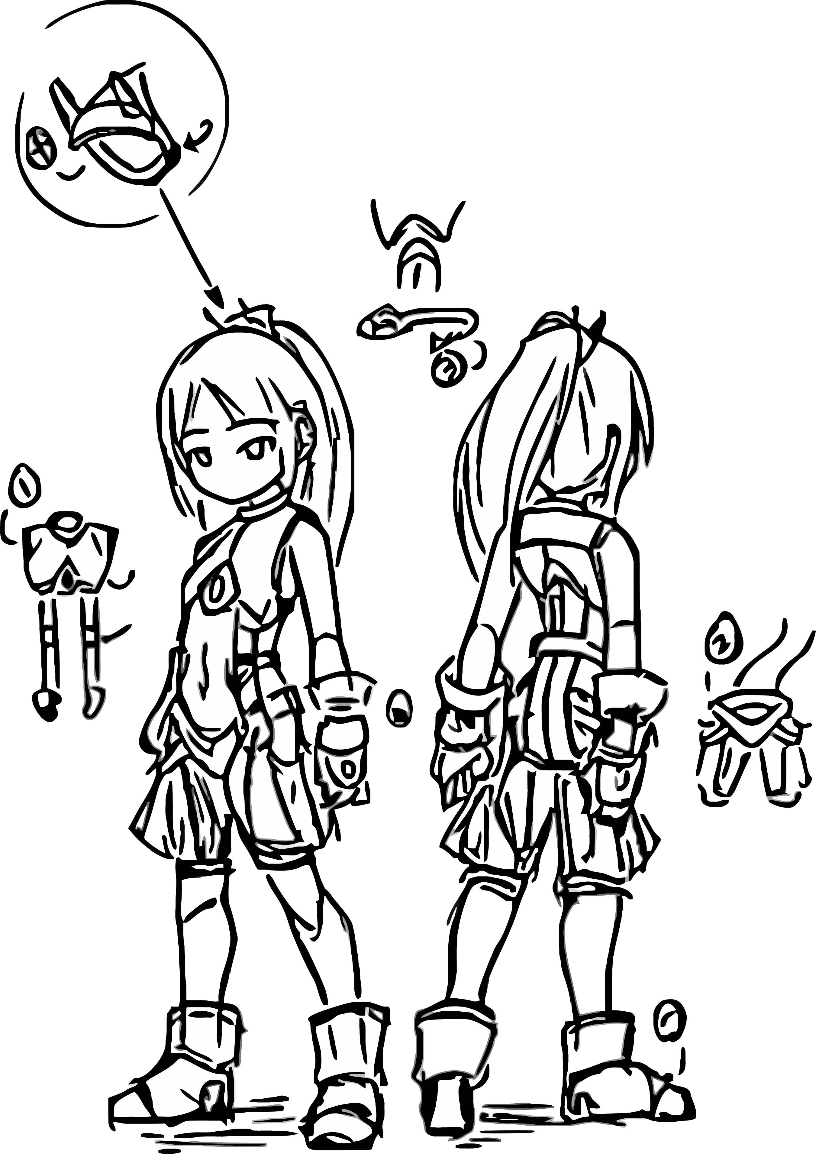 Character Design Ivori Kaiyuan Coloring Page