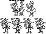 Character Design Meki Kouken Cartoonized Coloring Page