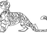 Character Design Tiger Asimplesong Cartoonized Coloring Page