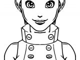 Character Designs Beautiful Girl Coloring Page Cartoonized