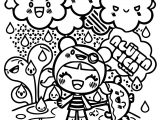 Character Designs Cute Chibi Girl Cartoonized Coloring Page