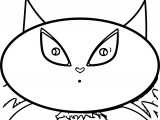 Character Designs Empty Face Cat Cartoon Coloring Page