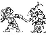 Character Designs Old Pirate Cartoonized Coloring Page