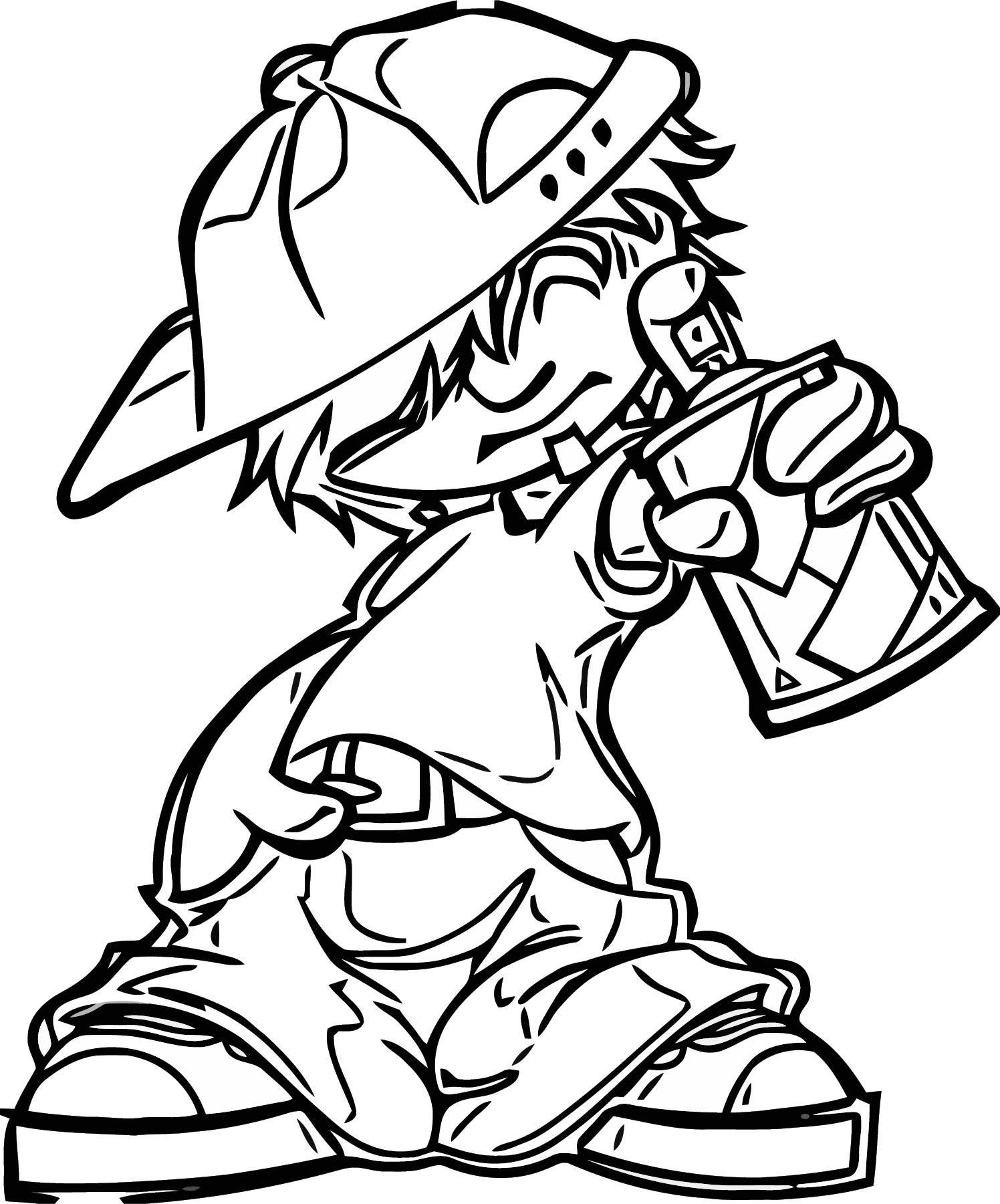 Character Designs Spray Boy Coloring Page
