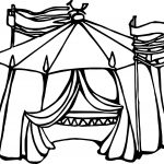 Circus Tent Mix Coloring Page
