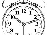 Clock Coloring Page WeColoringPage 027