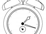 Clock Coloring Page WeColoringPage 029