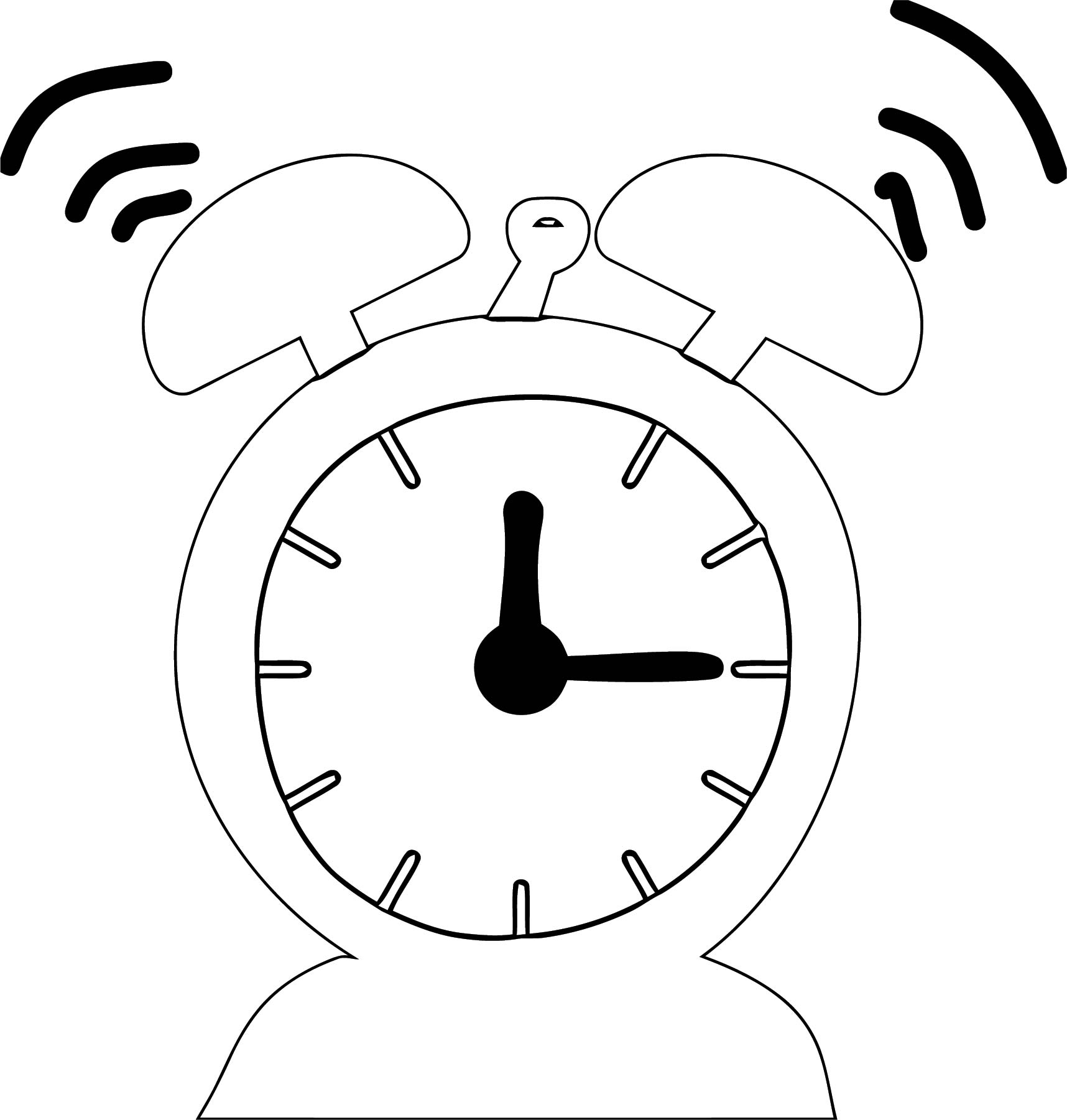 Clock Coloring Page WeColoringPage 031