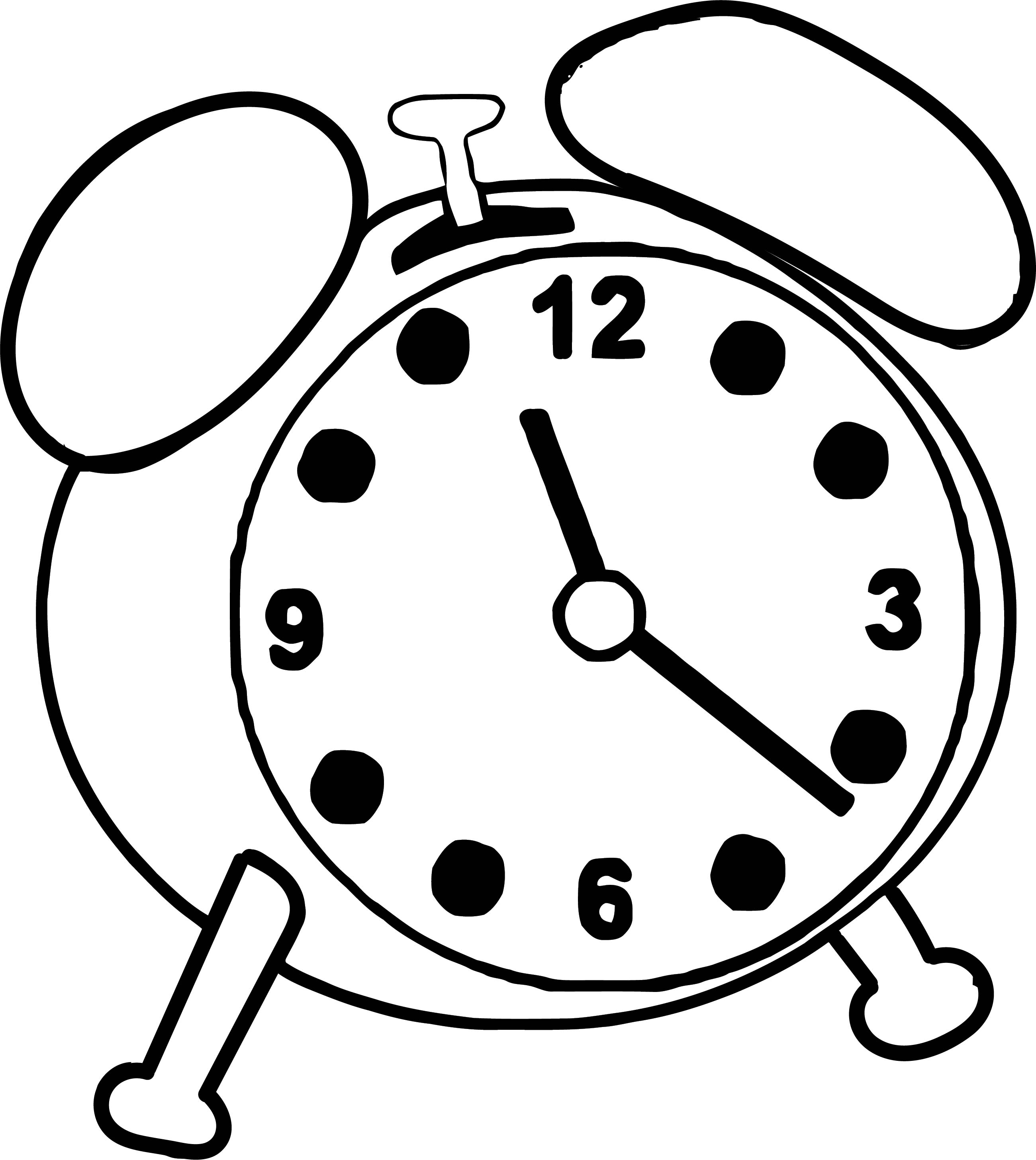 Clock Coloring Page WeColoringPage 032