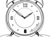 Clock Coloring Page WeColoringPage 033