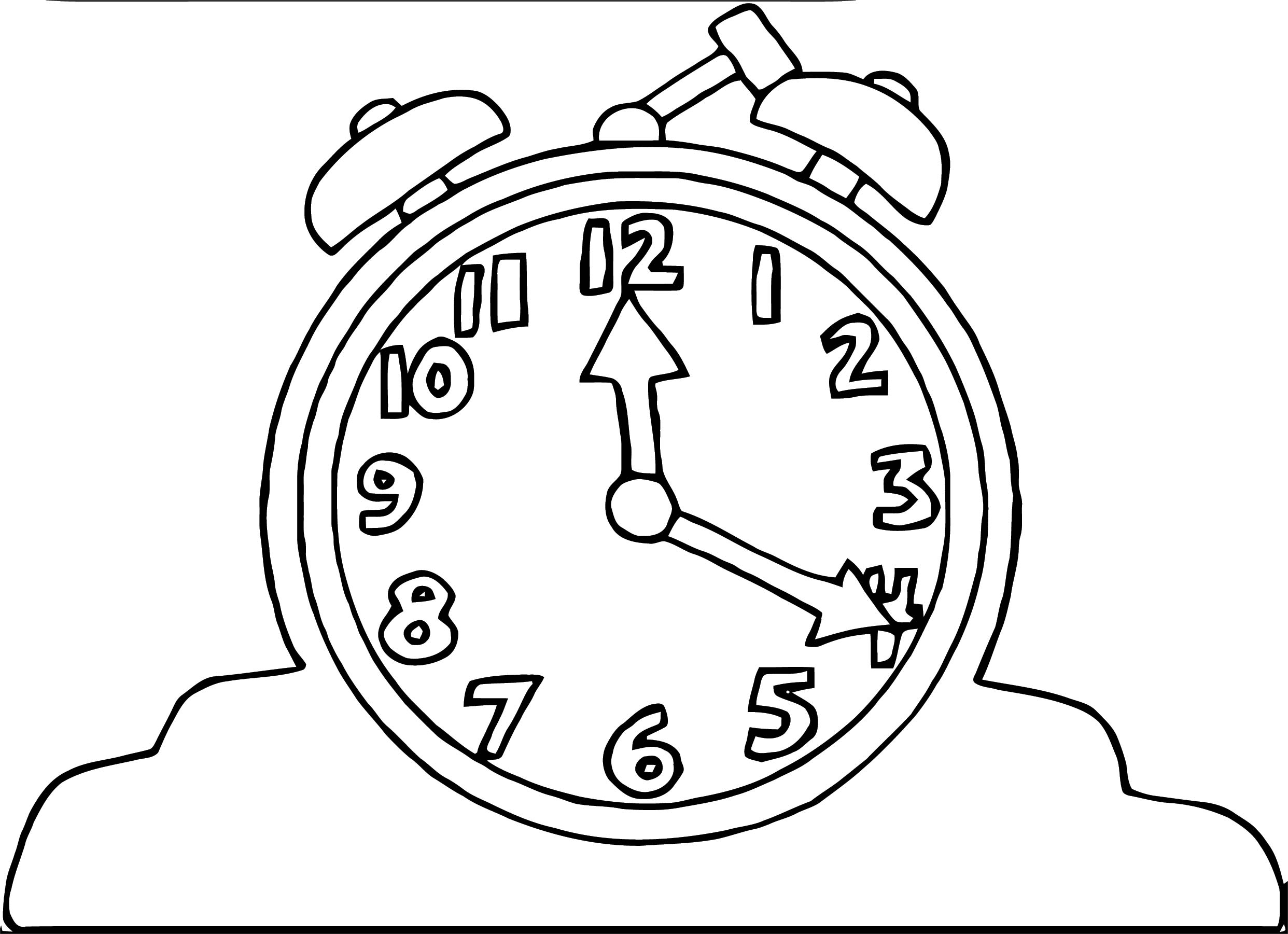 Clock Coloring Page WeColoringPage 034